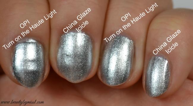 silver nail polishes comparison