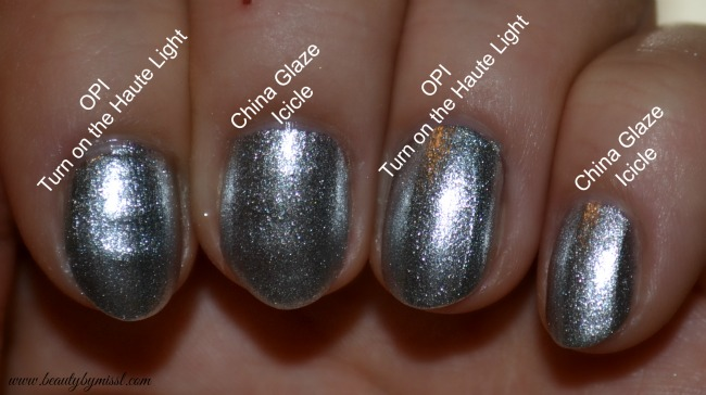 silver nail polishes comparison