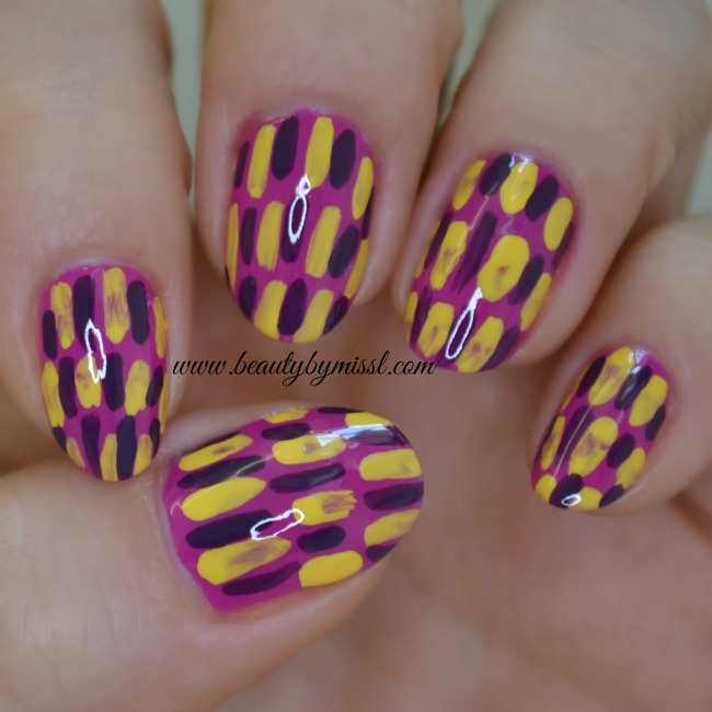 Brush Stroke Nail Art 2