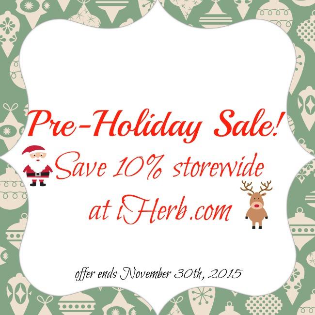 iHerb pre-holiday sale