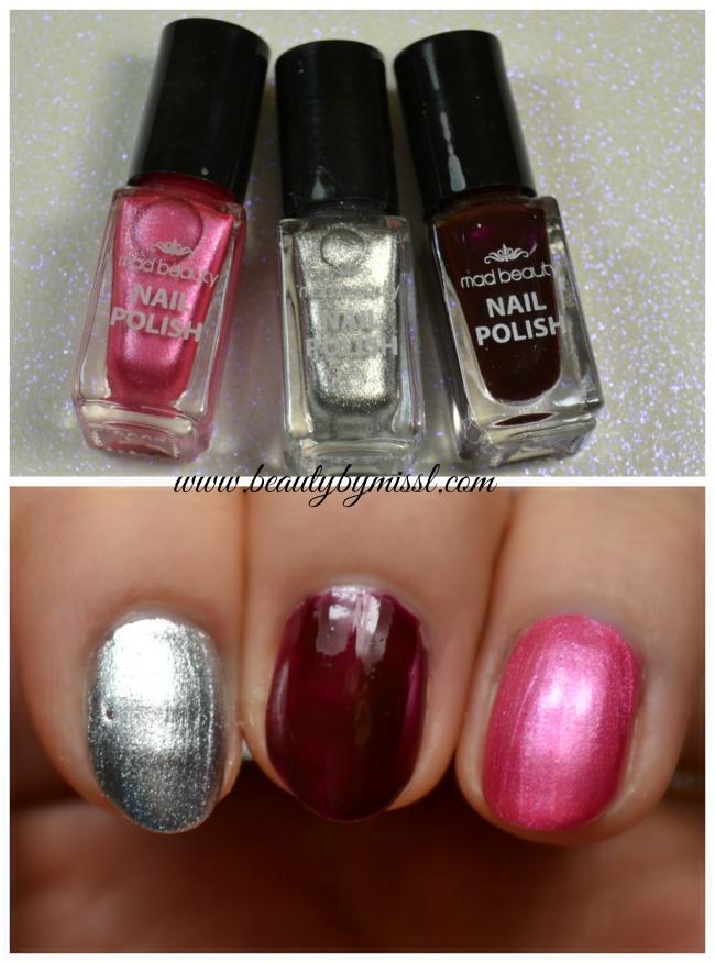Mad Beauty nail polishes