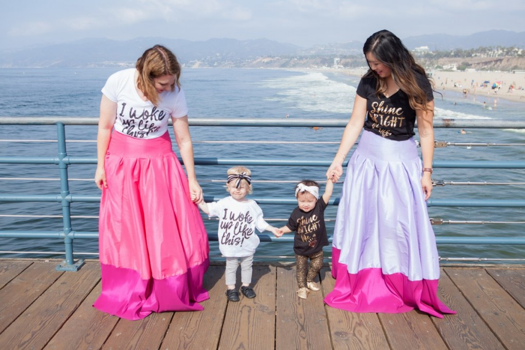 Mommy and Me Style: Graphic Tees and and Maxi Skirts post over at Sandy a La Mode