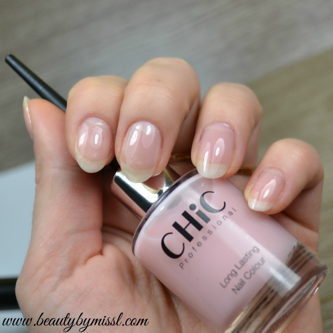 Chic Professional Long Lasting nail colour nude shade swatches and review