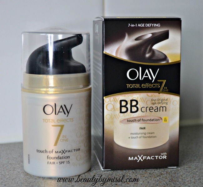 Olay Total Effects 7 in 1 Touch of Max Factor Foundation Moisturiser in Fair