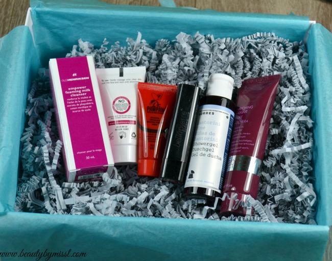 6 beauty products from Lookfantastic Beauty Box November 2015 box