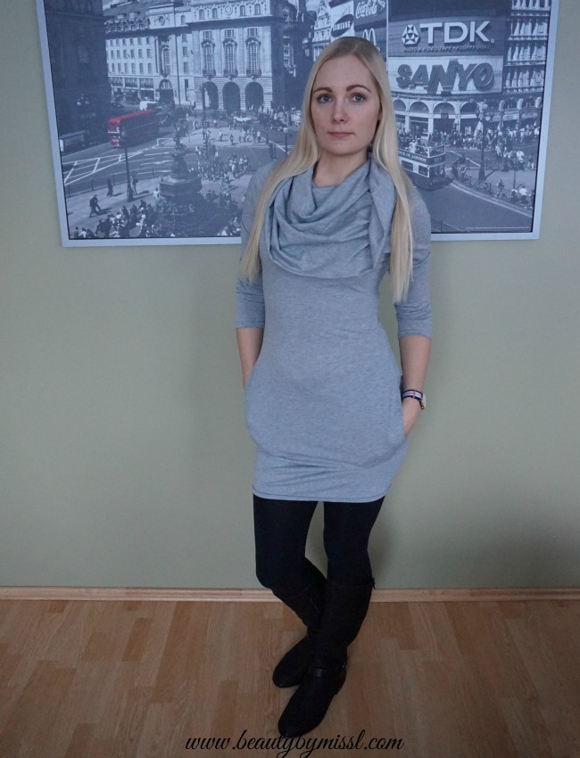 OOTD and LINK UP: grey and black