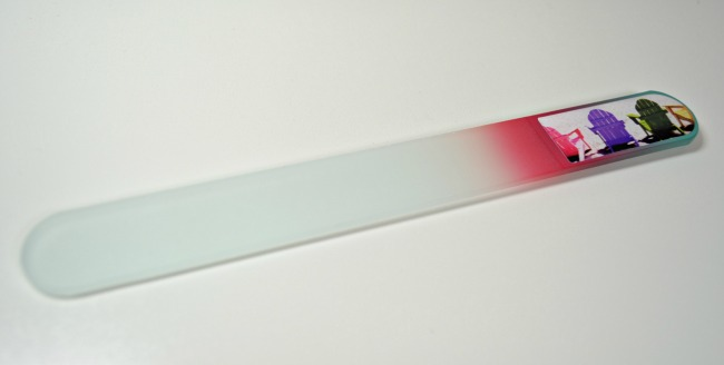 L42 coloured glass nail file