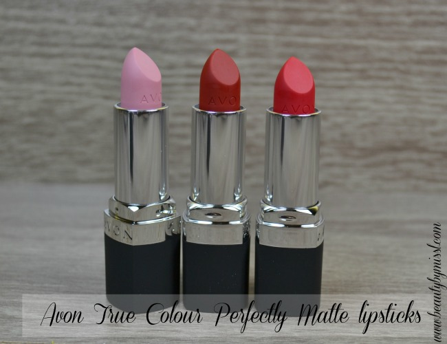 Avon True Colour Perfectly Matte lipsticks review and swatches