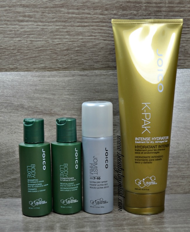 Joico Body Luxe, K-Pak Intense Hydrator and JoiMist Firm Hairspray