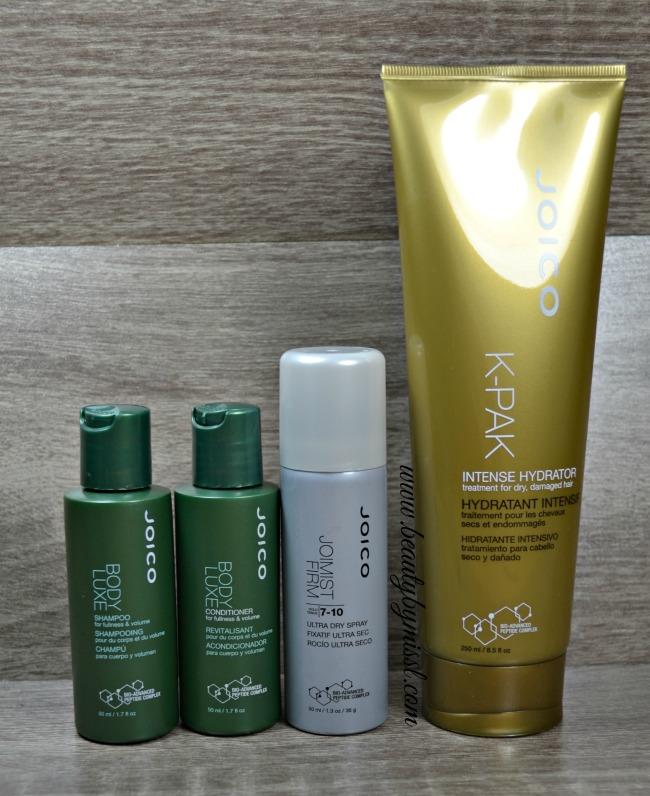 Joico Body Luxe, K-Pak Intense Hydrator and JoiMist Firm Hairspray