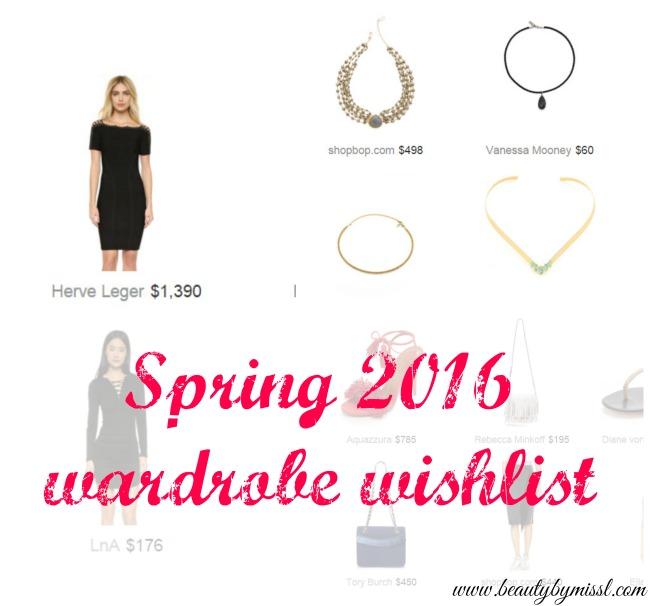 Spring 2016 wardrobe wishlist