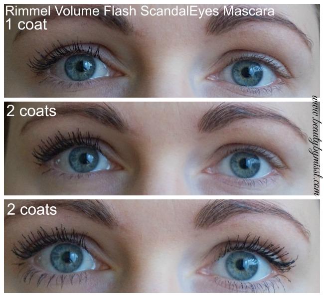 Rimmel Volume Flash ScandalEyes Mascara on my lashes