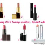 Spring 2016 beauty wishlist - lipstick edition