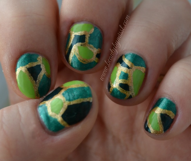 7 days of St. Patrick's Day Nail Art – Day 7