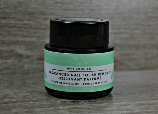 Ciate Mint Choc Pot Fragranced Nail Polish Remover review