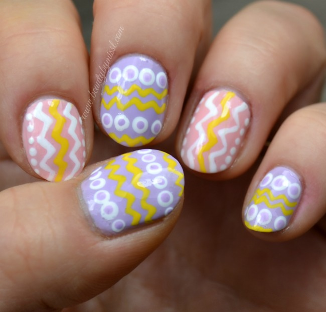 Easter themed nail art