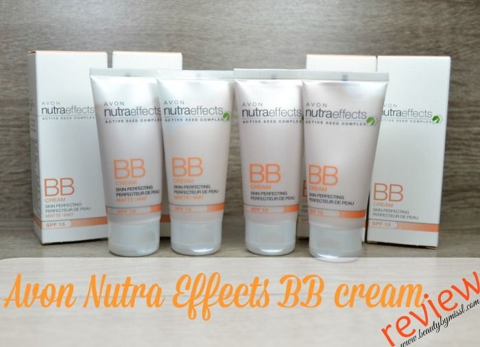 Avon Nutra Effects matte and regular BB cream review