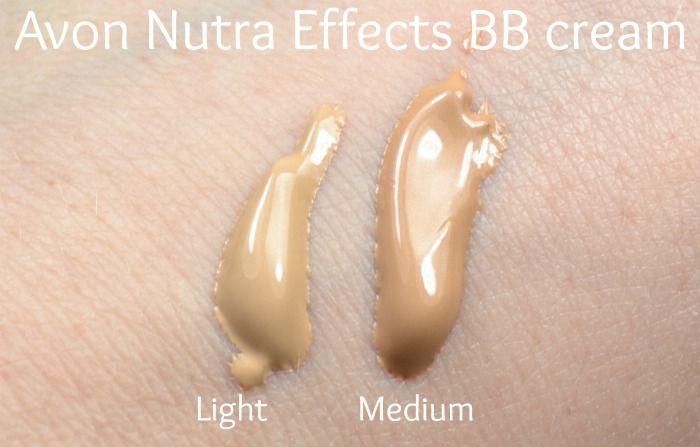 Avon Nutra Effects regular BB cream swatches