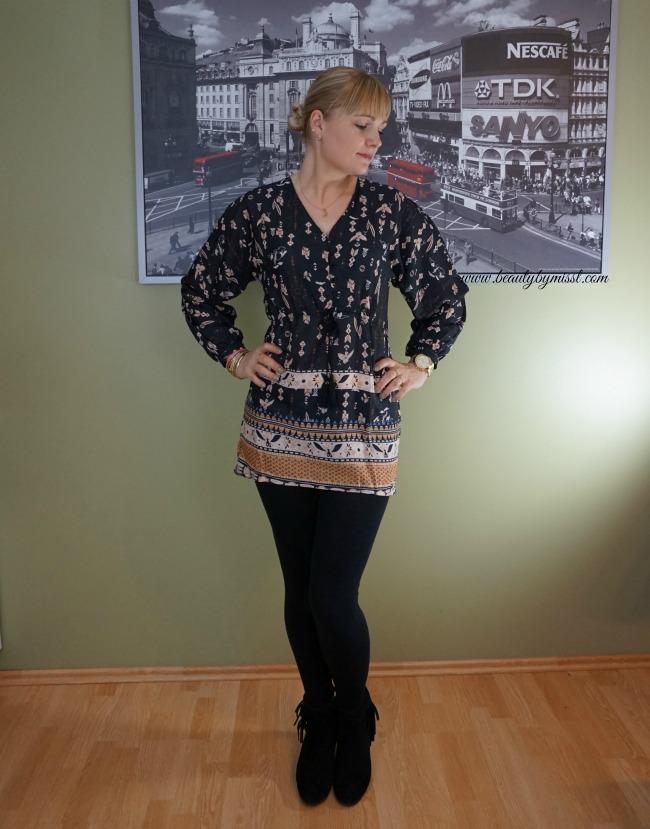 Retro Print Dress from Zaful