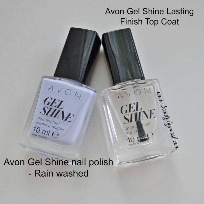 Avon Gel Shine küünelakk tooniss Rain washed ja pealislakk