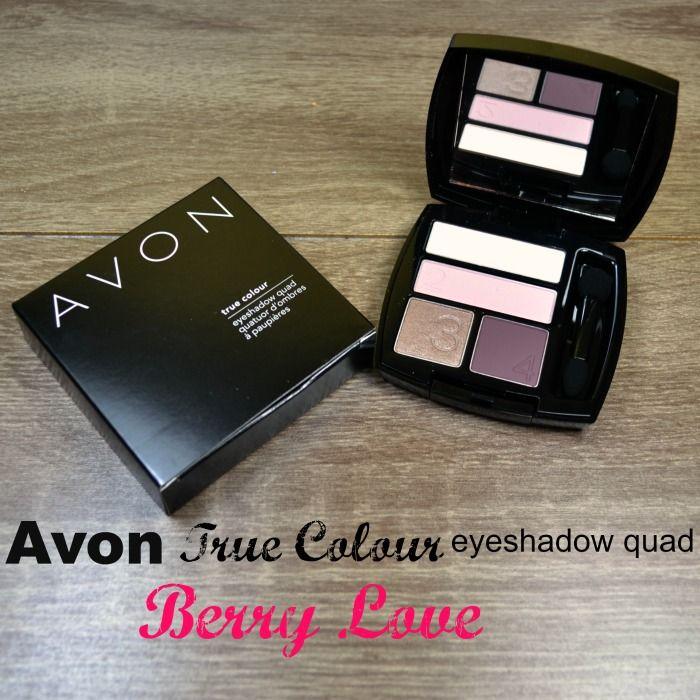 Avon True Colour eyeshadow quad Berry Love