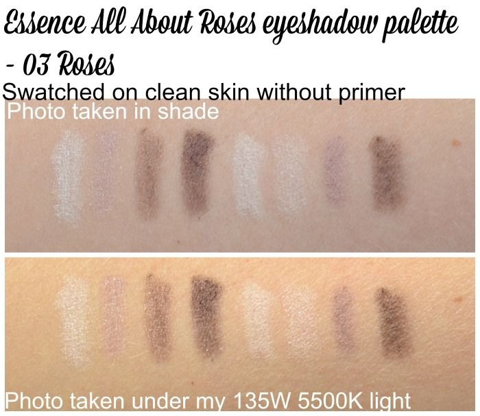 Essence All About Roses eyeshadow palette swatches