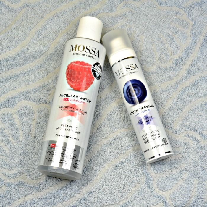 Mossa Micellar Water and Youth Defence Moisturising Antioxidant Day Cream