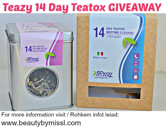 Teazy 14 Day Teatox GIVEAWAY