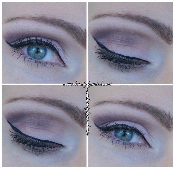 smoky eye with Avon True Color Eyeshadow quad Berry Love