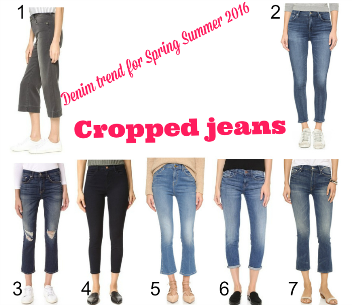 Denim trend for Spring Summer 2016: Cropped jeans