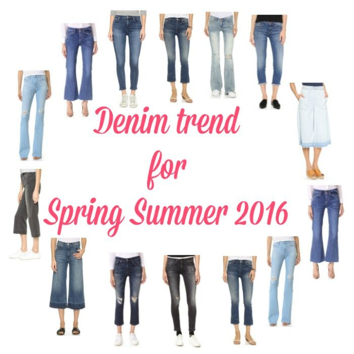 Denim trend for Spring Summer 2016