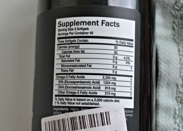 Intelligent Labs Ultra Pure Omega 3 supplement facts