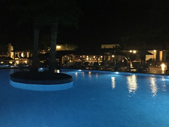 Stella Palace Resort & Spa pool at night
