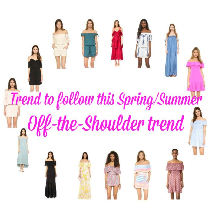 Trend to follow this SpringSummer Off Shoulder trend