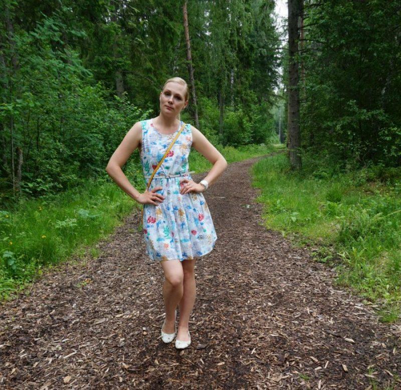 Yumi belted dress, Michael Kors crossbody bag, Michale Kors watch