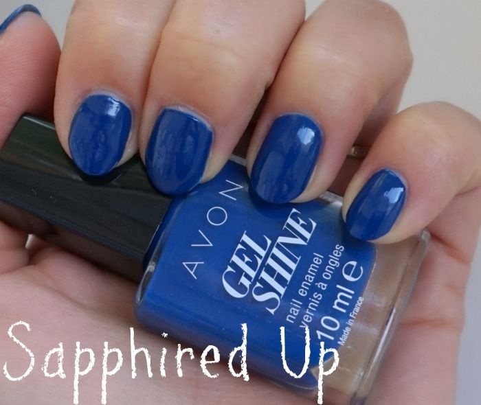 avon gel shine nail enamel sapphired up