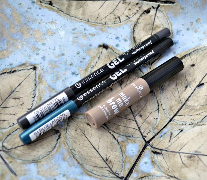 essence make me brow eyebrow gel mascara and essence gel eye pencil