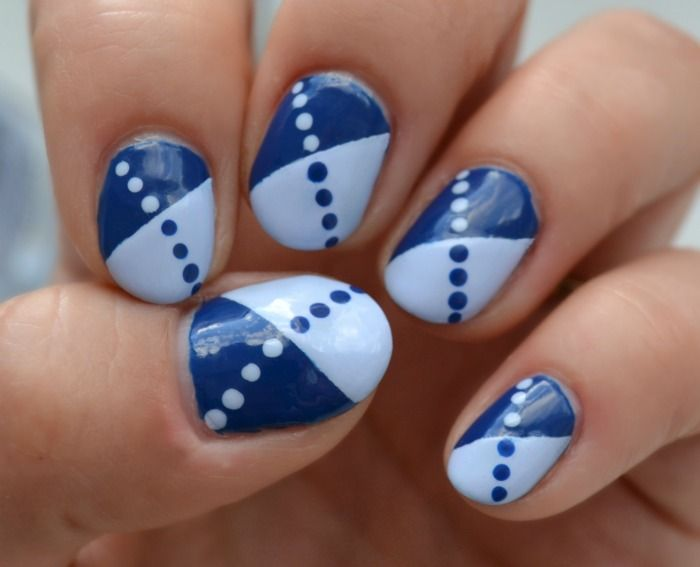 super simple two colour manicure