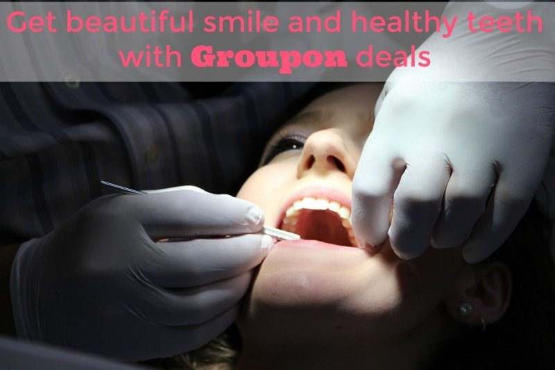 Get beautiful smile and healthy teeth with Groupon deals