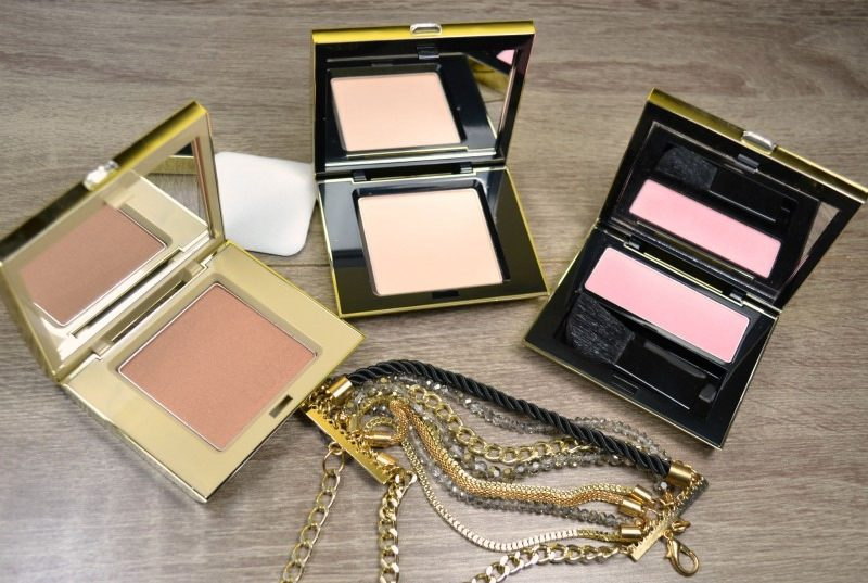 Make your makeup perfect with Avon Luxe Silken Pressed Powder in Fair Silk, Luxe Lavish Powder Bronzer in Warm Glow and Luxe Temptation Powder Blush in Show Stopping Pink