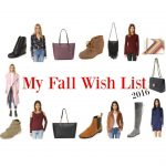 My Fall Wish List 2016