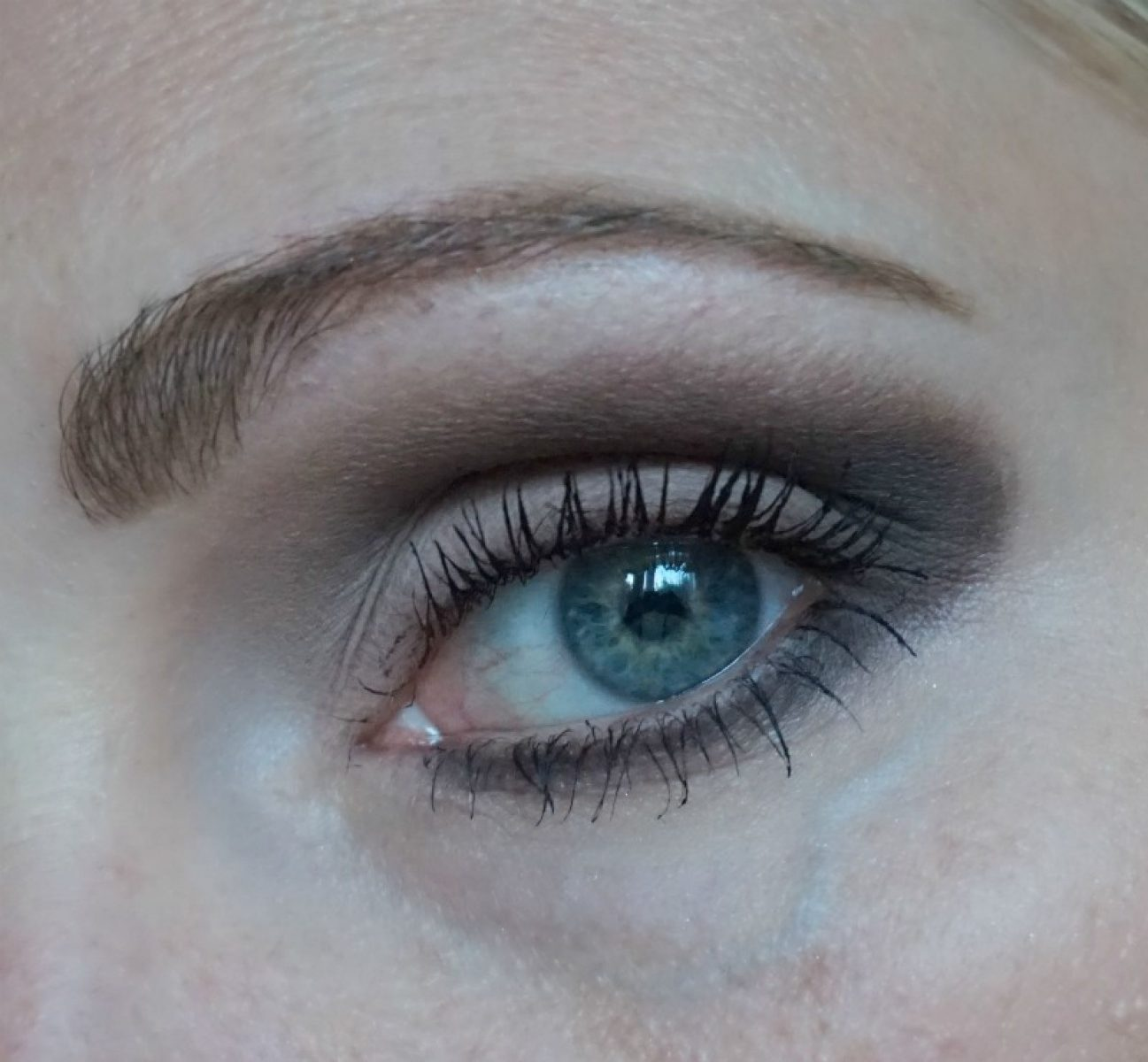 brown Matte eye makeup with Urban Decay Naked Smoky