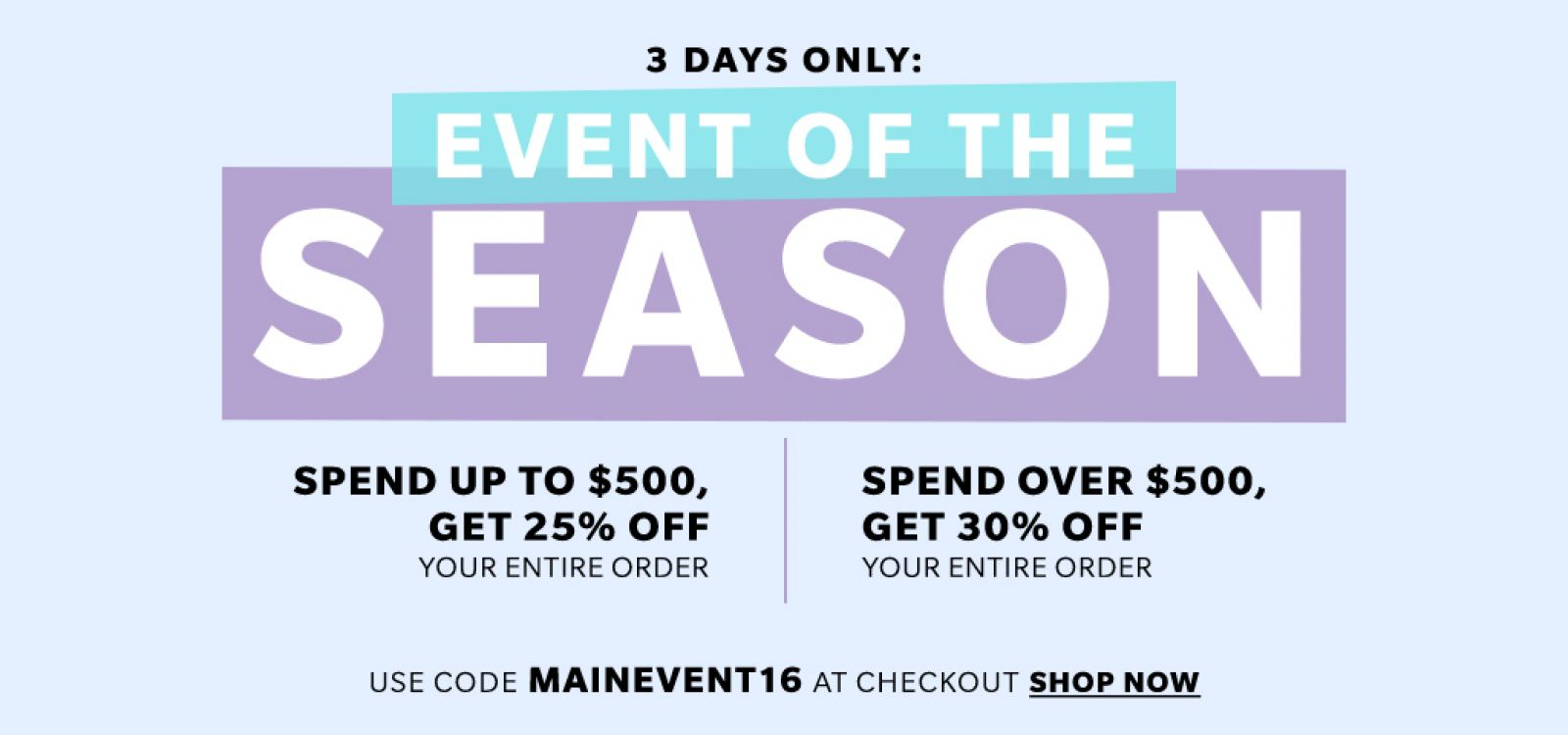 Event of the season – SHOPBOP SALE – get up to 30% off your order