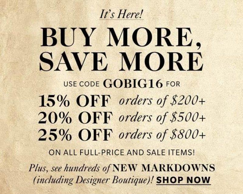 Buy More, Save More at Shopbop!