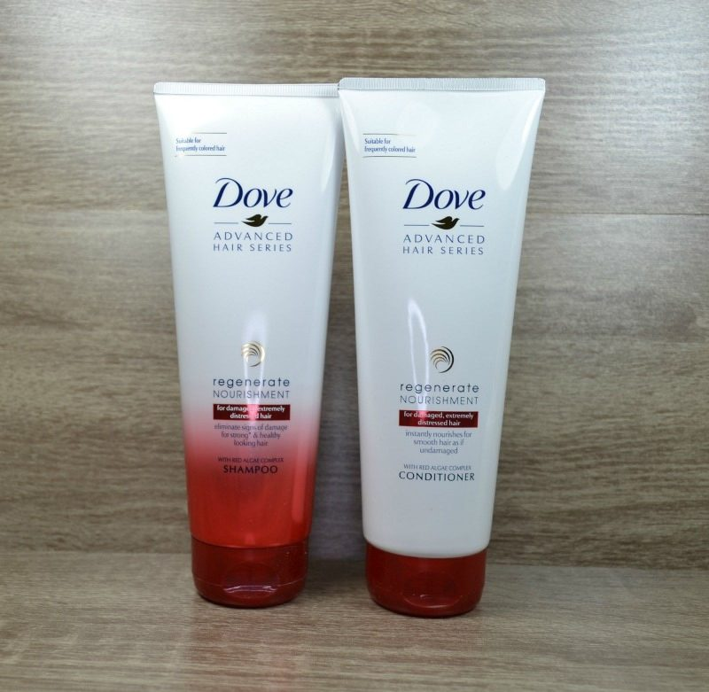 Dove Regenerate Nourishment shampoo & conditioner