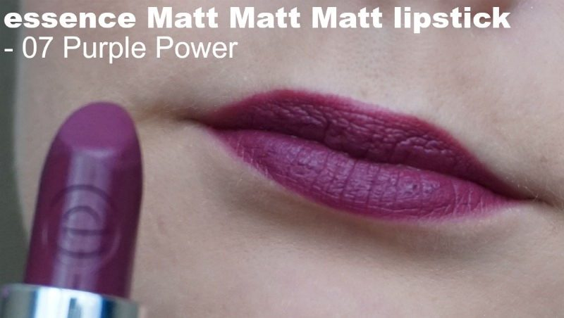 Essence Matt Matt Matt lipstick 07 Purple Power
