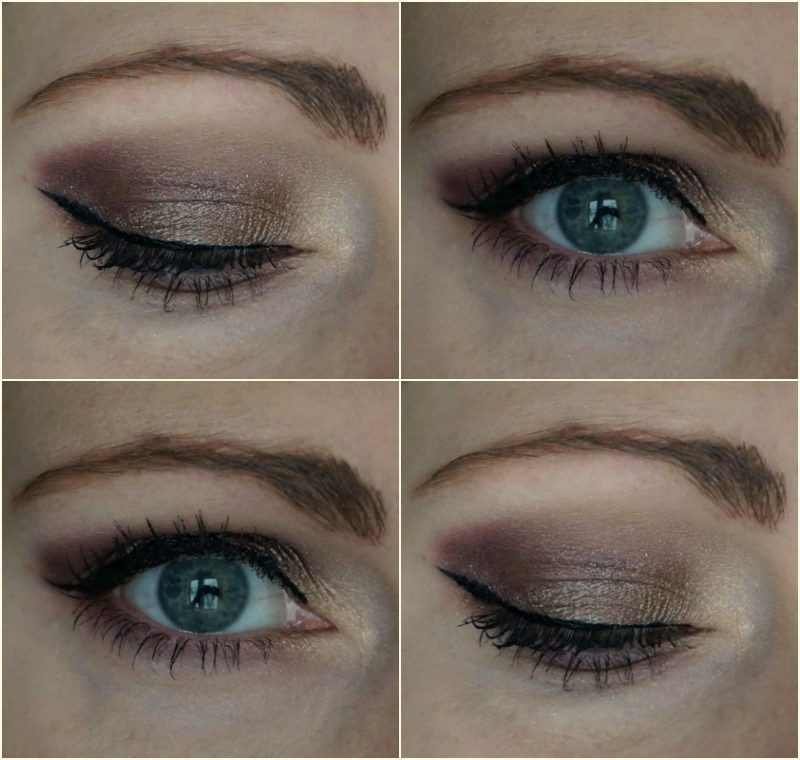 Eye makeup look with NYX Ultimate Shadow Palette Smokey & Highlight