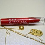 NYX Chunky Dunk Hydrating Lippie - Cherry Smash swatches and review