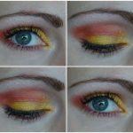 EOTD: Yellow and orange eye makeup