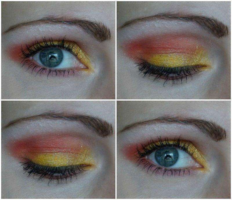 yellow orange eye makeup